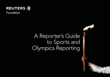 A Reporter's Guide To Sports And Olympics Reporting - Trust.org