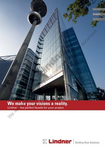We make your visions a reality. - Lindner Group