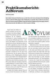 Praktikumsbericht: AdNovum - Vis