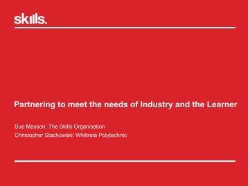 Sue Masson, The Skills Organisation, and Christopher Stachowski ...
