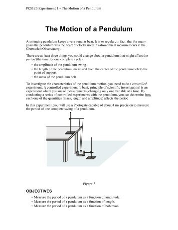 an observation of the properties of a pendulum 2 derivation of the torsion-pendulum model dividing by a(l) and taking line integrals around the entire streamline, we get rq r dl a dl a kq aldl ll x.