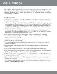Key Developments Quick facts about AIU Holdings: - Nailba