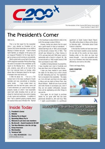 Cessna 200 Newsletter Autumn 2011 - c200series.com.au