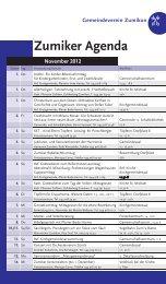 Zumiker Agenda November 2012 - Zumiker Bote