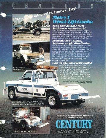 Century - Metro c1985 - Zip's Truck Equipment
