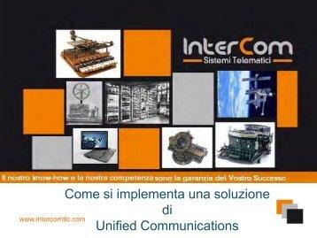 Scarica la presentazione in pdf. - intercomtlc.com