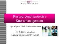 Vortrag von Julia Scharnhorst - PTK Bayern