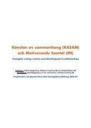 Känslan av sammanhang (KASAM) och Motiverande Samtal (MI)