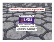Coulomb interaction in graphene