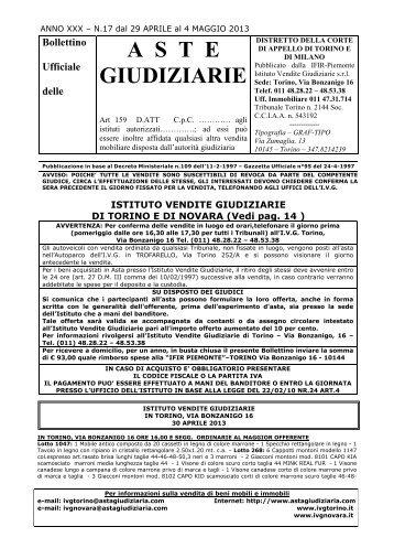 BOLL.N.17 DAL 29 APRILE AL 4 MAGGIO 2013 - Comune di Novara