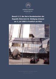 Besuch S. E. des Herrn Bundeskanzlers der ... - moritz hunzinger