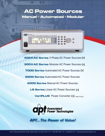 AC Power Sources AC Power Sources - Texinstrumentos.com.br