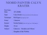 Niobid Painter Calyx Krater