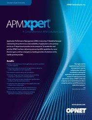 OPNET Application Performance Management Brochure - Interlink ...