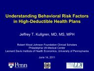 Understanding Behavioral Risk Factors in High ... - AcademyHealth