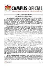 Atos Administrativos PAD, CCA, CCB e Cead 03.06.2013
