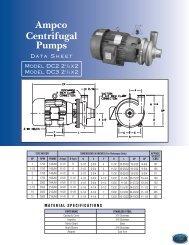 D Series Data Sheets.pdf - Ampco Pumps Company