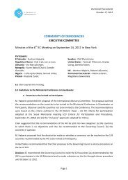 Minutes from the Sixth CD Executive Committee Meeting