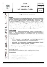 Bendaggio Funzionale _Programma CV - Oasi Città Aperta