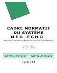 Cadre normatif - Gouvernement du Québec
