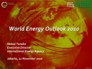 World Energy Outlook 2010 launched in Indonesia