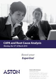 CAPA and Root Cause Analysis Boost your Expertise!