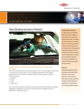 Glass Bonding Accessory Products - Dow Automotive Systems