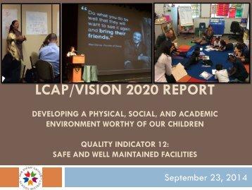 LCAP Vision 2020 Implementation Presentation, 9-23-14