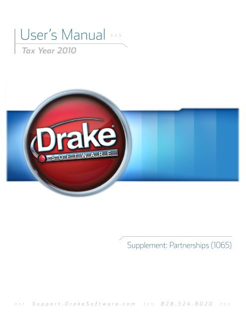 Partnerships (1065) - Drake Software Support