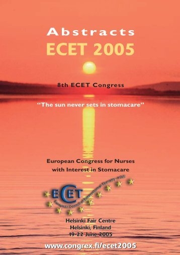ECET Abstracts 050605 - European Council of Enterostomal Therapy
