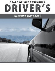 WV Driver Handbook - West Virginia Department of Transportation ...
