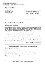 Lettre aux parents - Ge.ch