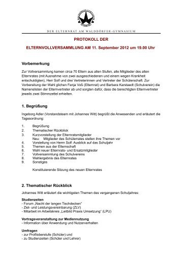 2012-09-11 Vollversammlung Protokoll.pdf - Walddörfer Gymnasium