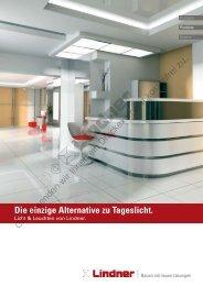 Die einzige Alternative zu Tageslicht. - Lindner Group