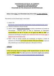 UNIVERSIDADE ESTADUAL DE CAMPINAS ... - FCM - Unicamp
