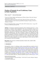 Fixation of Strategies for an Evolutionary Game in Finite Populations