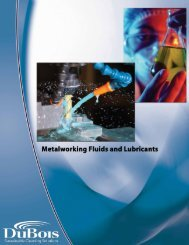 Metalworking Fluids and Lubricants Booklet - DuBois Chemicals