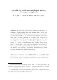Amenable and weakly amenable Banach algebras with compact ...