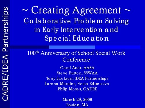 School Social Work - Morning Session pdf - Direction Service