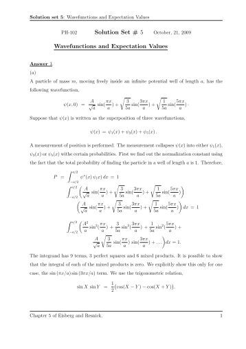 Worksheets Expected Value Worksheet worksheet on expected value solution set 5 wavefunctions and expectation values