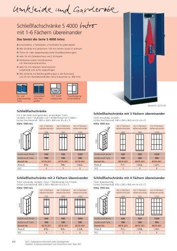 Schließfachschränke S 4000 mit 1-6 Fächern übereinander