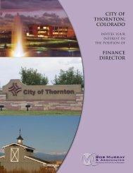 city of thornton, colorado - Bob Murray & Associates