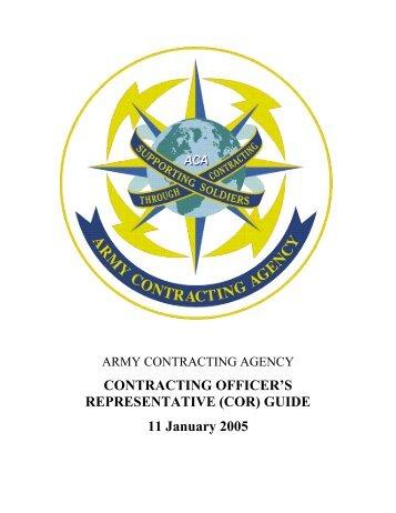 CONTRACTING OFFICER'S REPRESENTATIVE (COR) GUIDE 11 ...
