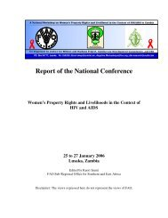 Report of the National Conference: Women's Property Rights ... - FAO