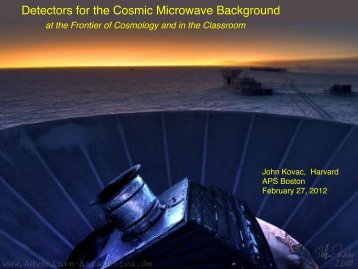 Detectors for the Cosmic Microwave Background - Better Physics