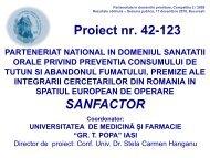 parteneriat national in domeniul sanatatii orale