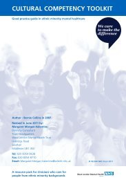 Cultural Competency Toolkit - West London Mental Health NHS Trust
