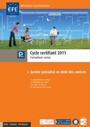 Cycle certifiant 2011 - Efe