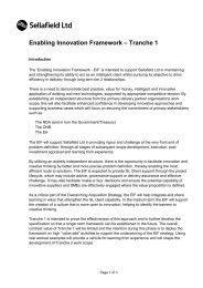 Enabling Innovation Framework Specification - Sellafield Ltd