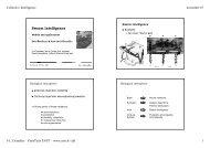 Swarm Intelligence - Sites personnels de TELECOM ParisTech